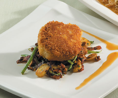 PlateOnline.com - Recipe Database - Tonkatsu of veal sweetbreads with ...