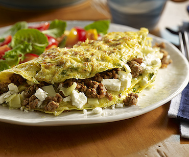 House chorizo omelet, The Country Cat