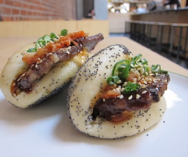 Beef tongue steamed buns. Photo: April Dawn Storm