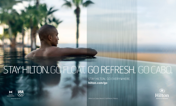 Advertising imagery from hilton s new campaign